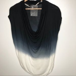 Young Fabulous & Broke black dip dyed cowl neck M